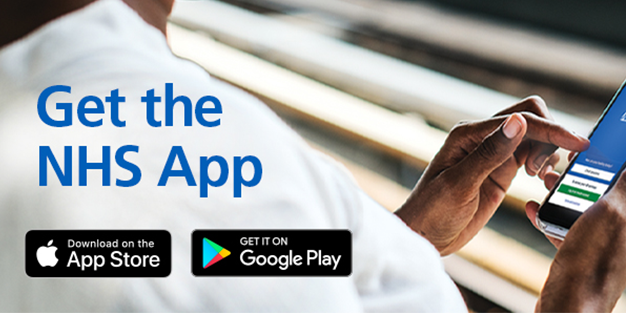 Get the NHS App logo and link to further information