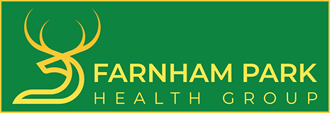 Farnham Park Health Group logo and homepage link